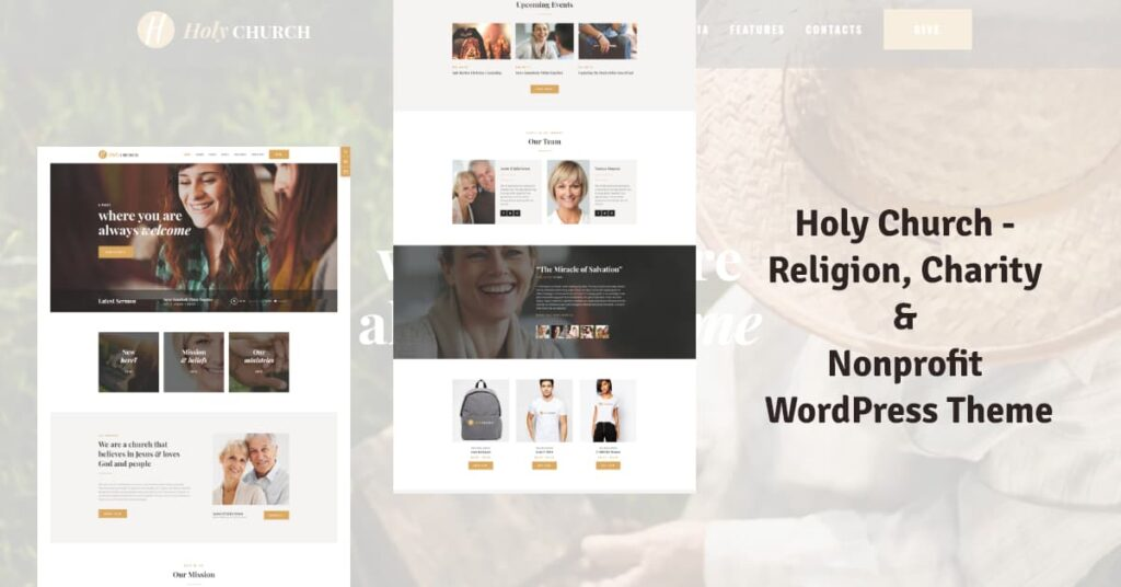 Holy Church Religion, Charity & Nonprofit WordPress chruch Theme