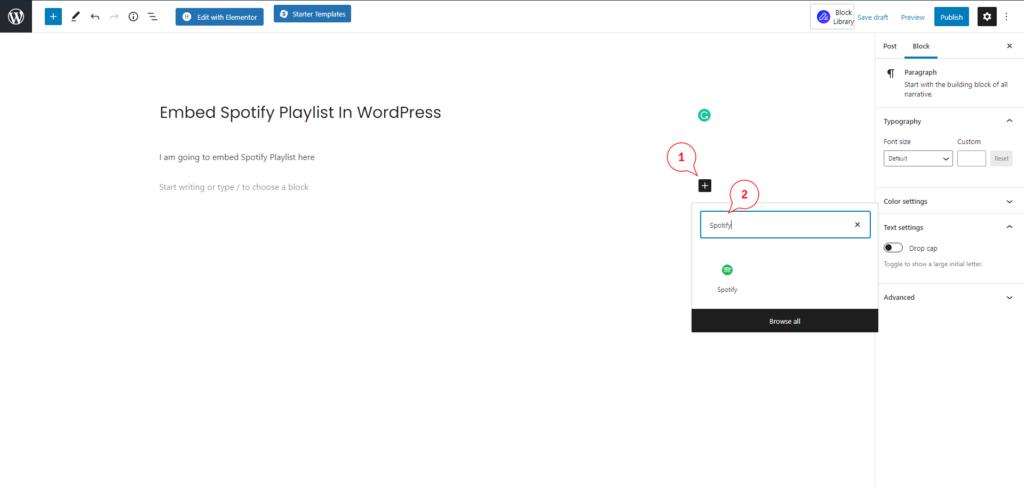 embed spotify playlist wordpress gutanbarg BoomDevs
