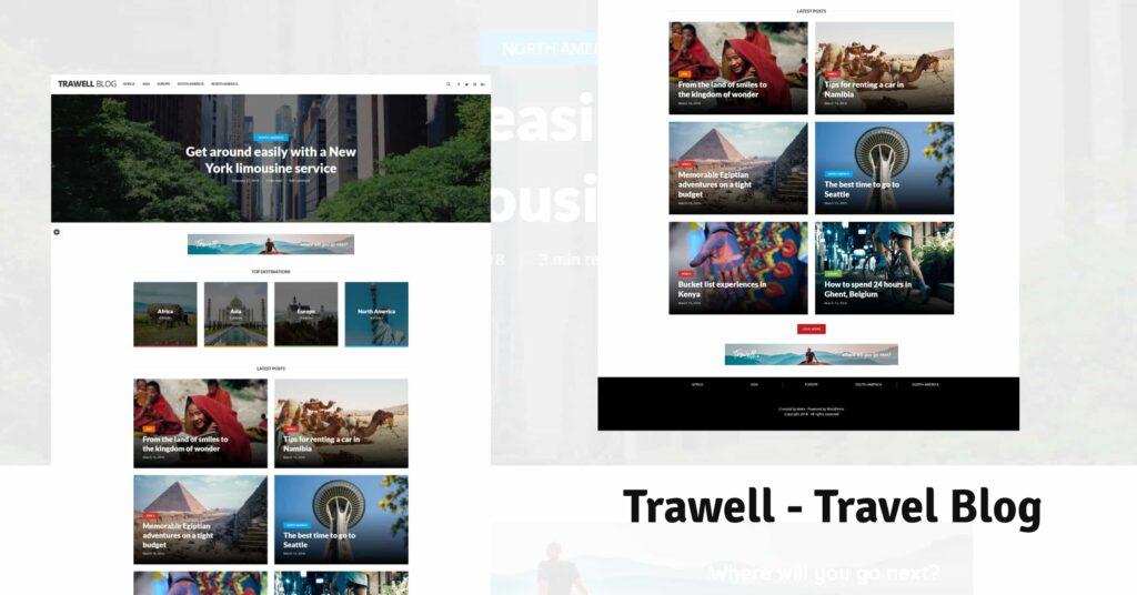 Trawell WordPress Themes for Travel Blogs BoomDevs