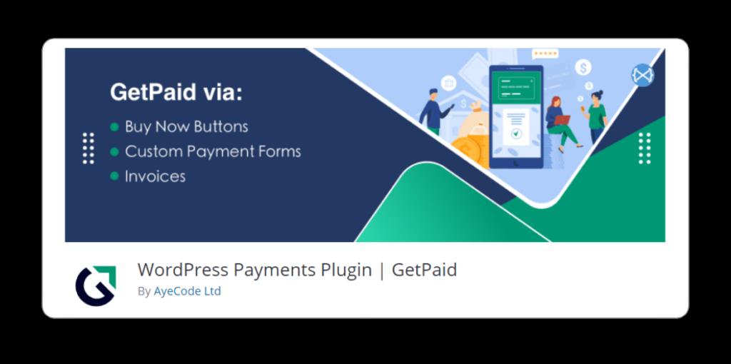WordPress Payments Plugin GetPaid BoomDevs