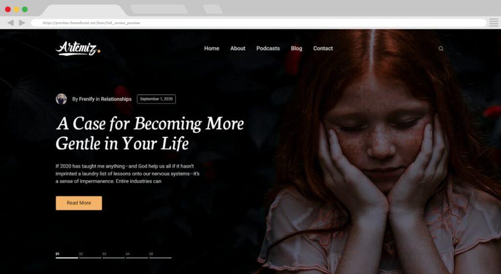 15. Artemiz Blog Podcast WordPress Theme BoomDevs