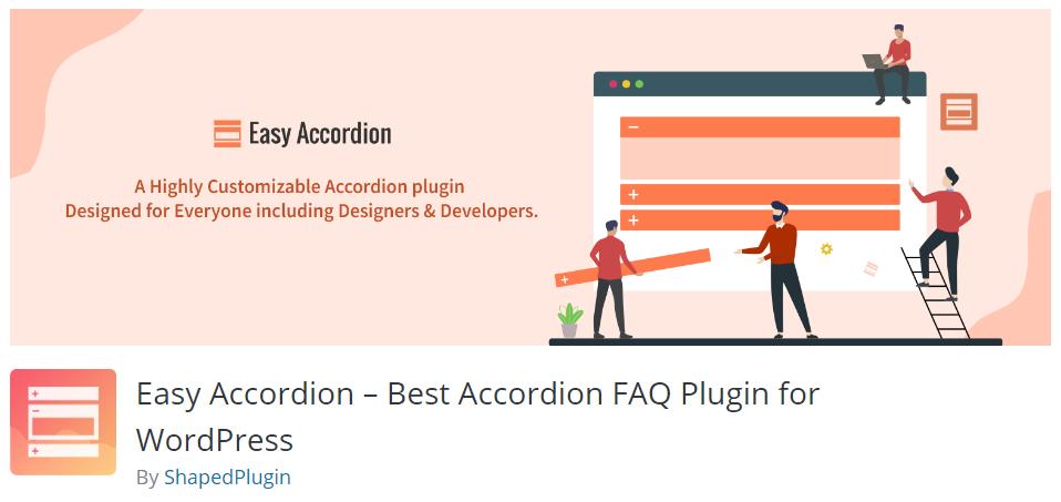 4. Easy Accordion – Best Accordion FAQ Plugin for WordPress