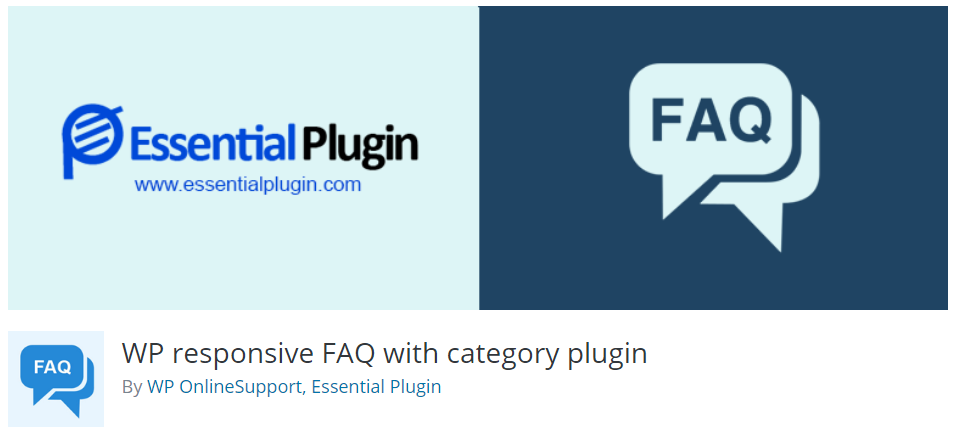 5. WP responsive FAQ with category plugin