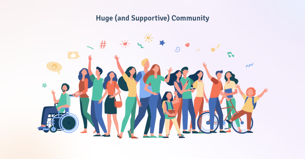 Huge and Supportive Community BoomDevs