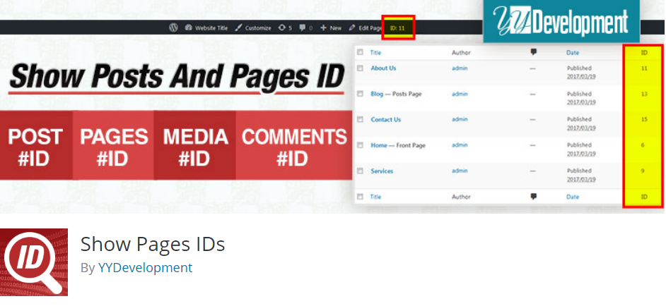 Show Pages IDs BoomDevs