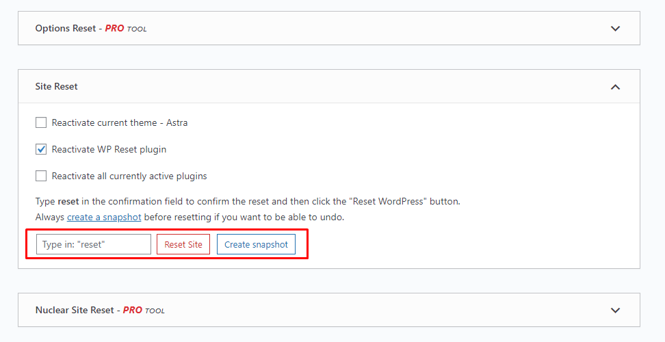 Wp Reset settings 1 BoomDevs