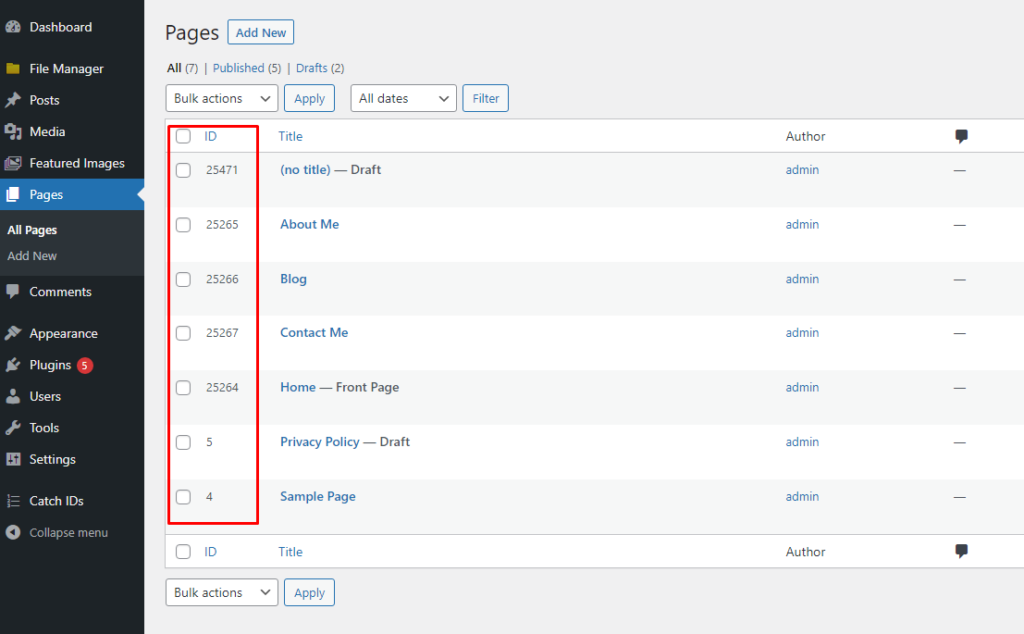how to find page id 4 BoomDevs