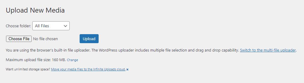 wordpress max file upload size BoomDevs