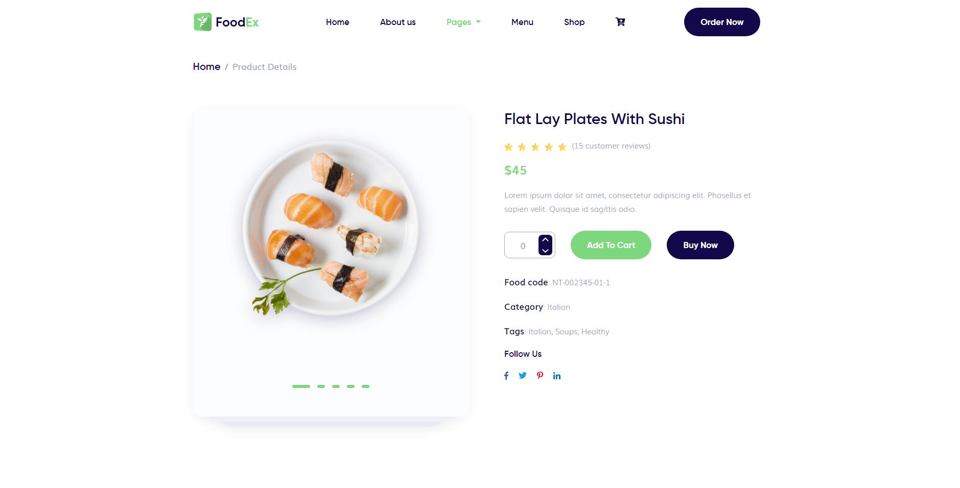 FoodEx - HTML Template For Food & Restaurant Website (1)