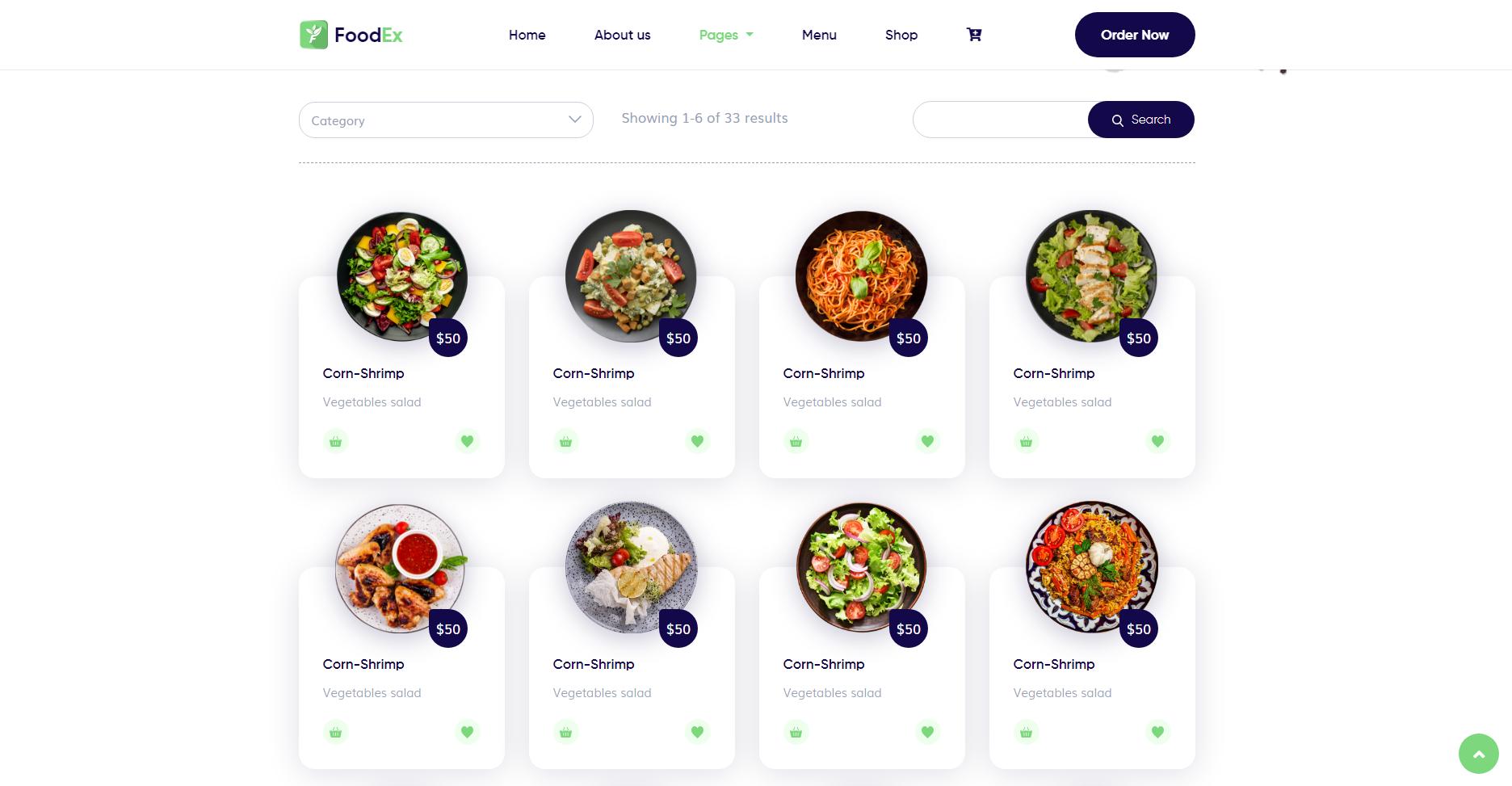 FoodEx - HTML Template For Food & Restaurant Website (2)