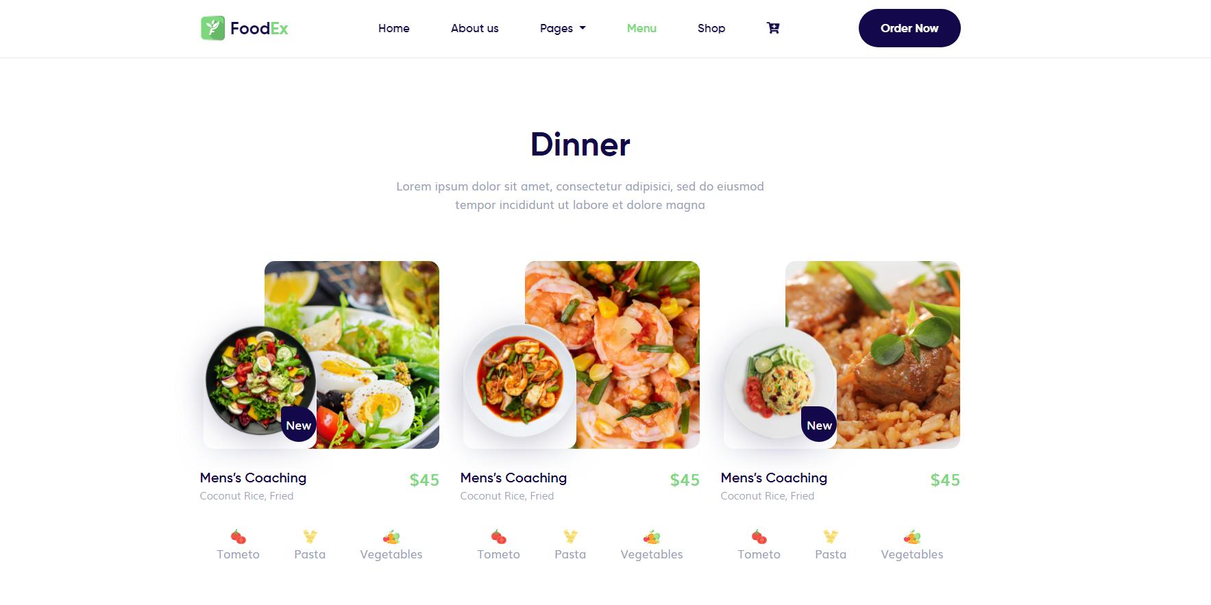 FoodEx - HTML Template For Food & Restaurant Website (5)