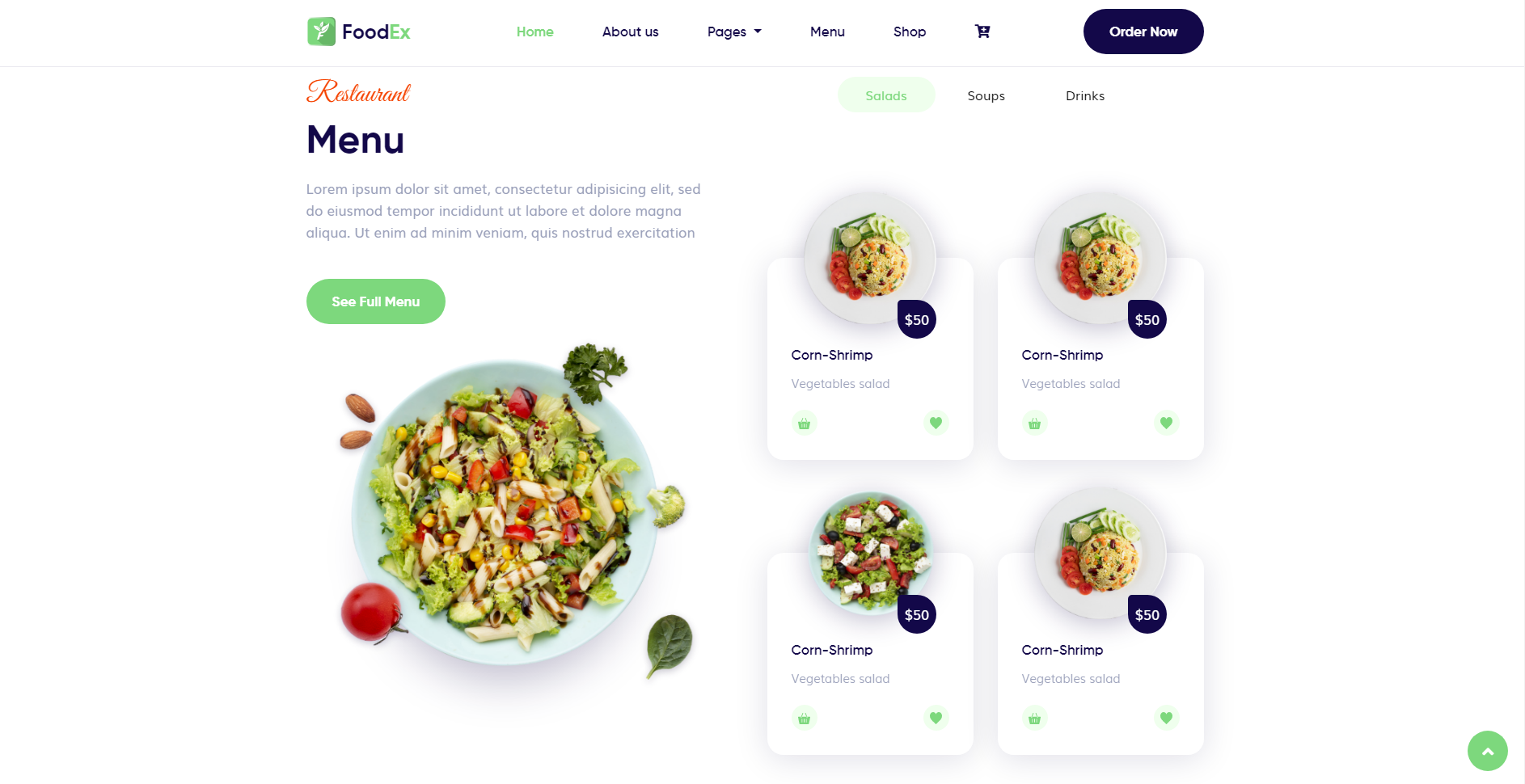 FoodEx - HTML Template For Food & Restaurant Website (6)