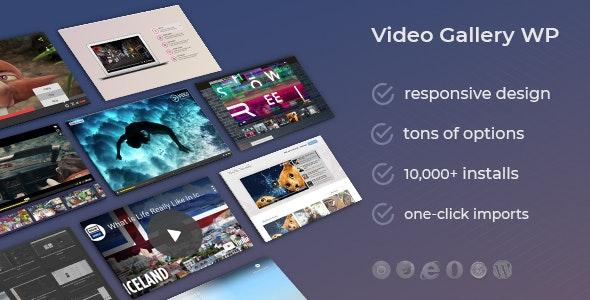 #3 Video Gallery WordPress Plugin w YouTube, Vimeo, Facebook pages
